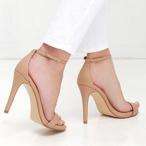 { steve madden } stecy natural stiletto sandals